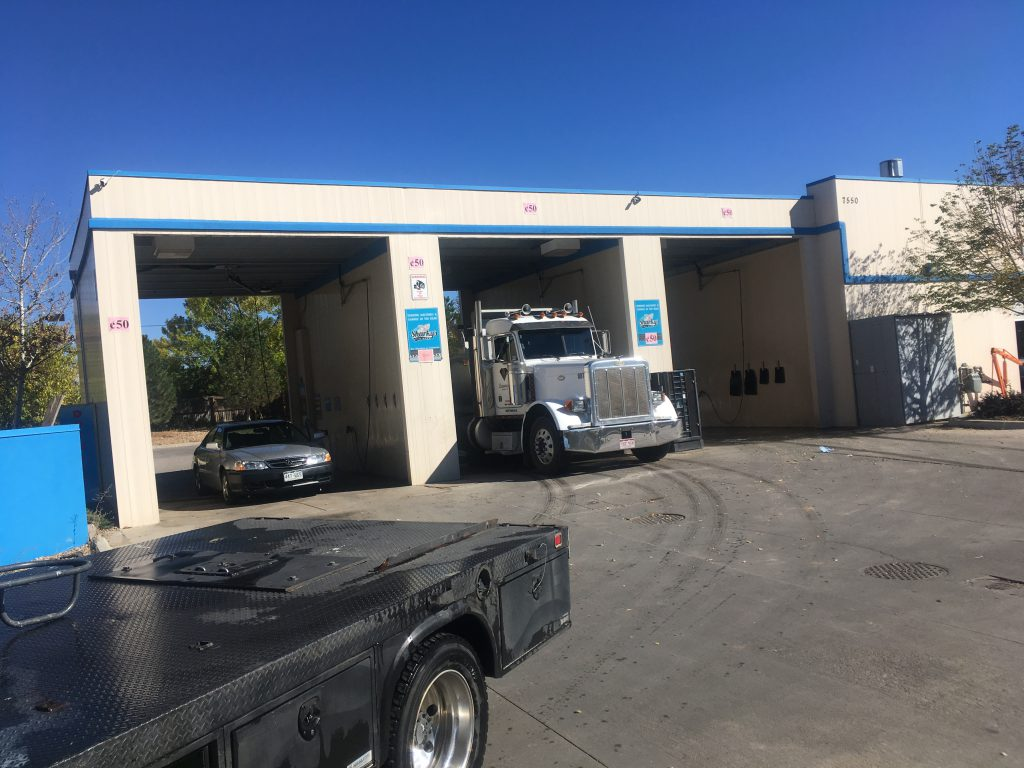 Sharky's Car & Dog Wash picture of tractor truck in car wash