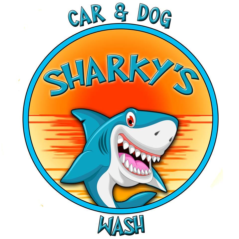 Sharky's Car & Dog Wash logo